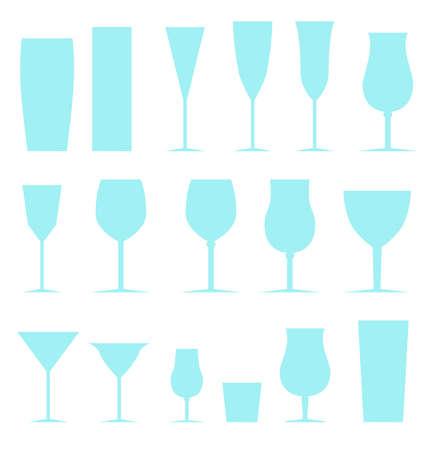 Set glasses Illustration