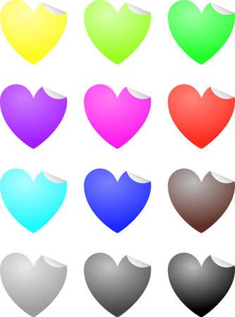 Heart labels Illustration