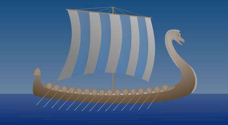 Viking Drakkar Illustration