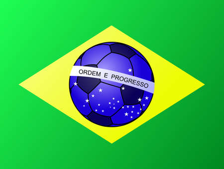 Brazillian Football flag