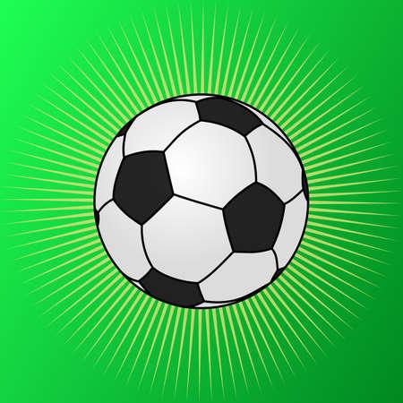 Football shining on the green Illustration