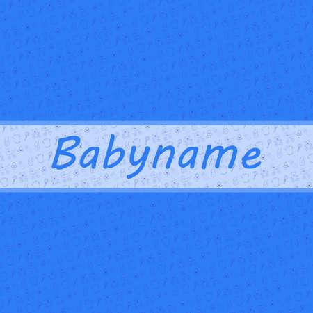 backgroud: Baby Boy card and baby stuff backgroud