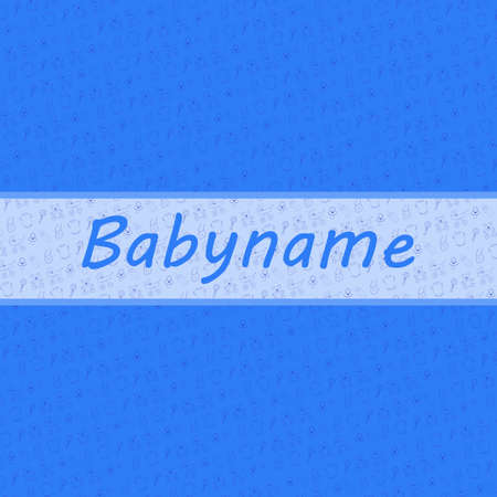Baby Boy card and baby stuff backgroud