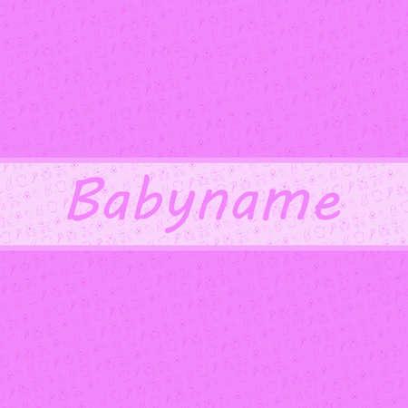 backgroud: Baby Girl card and baby stuff backgroud