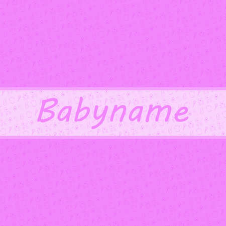Baby Girl card and baby stuff backgroud