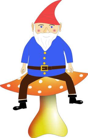 kobold: mythical goblin on a mushroom