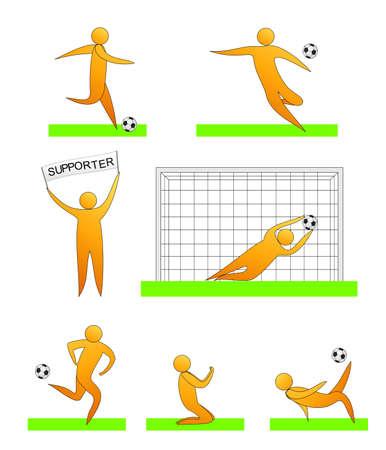 soccer football human sport silhouettes