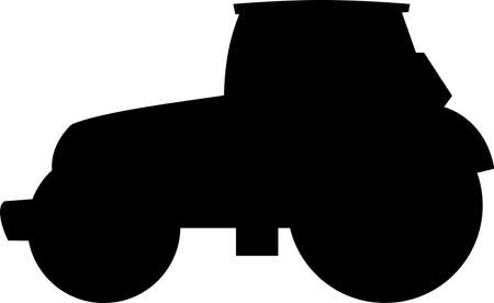 black tractor silhouette
