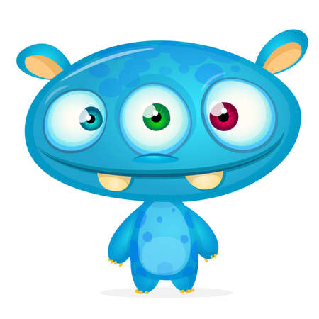 Cute cartoon monster. Vector character Stock Illustratie