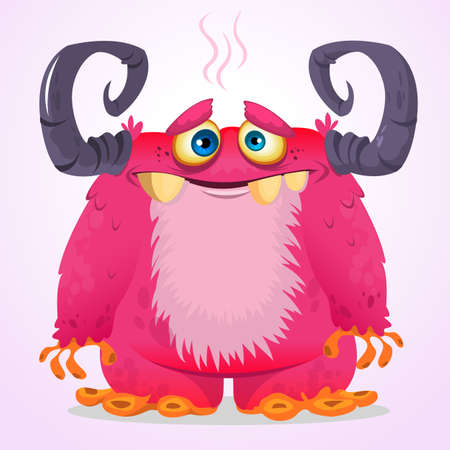 Happy cartoon monster. Vector character
