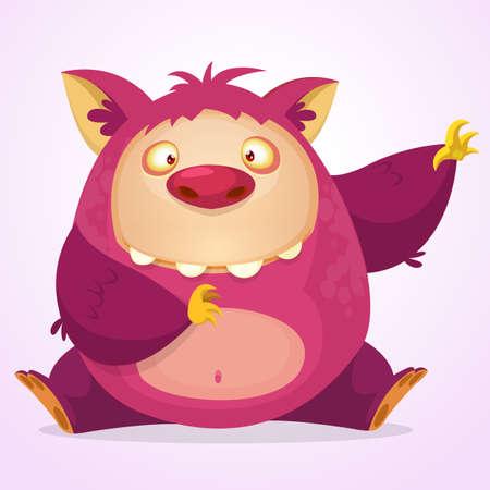 Happy cartoon monster. Vector character 版權商用圖片 - 50750947