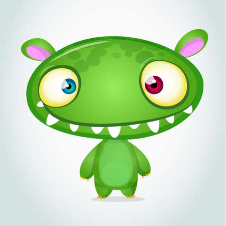 Vector cute caroon monster alien. Halloween monster character