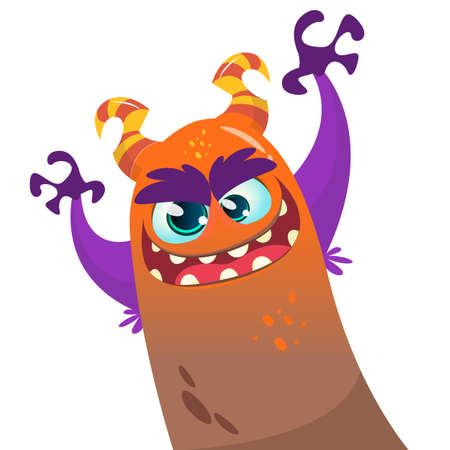 Cute cartoon monster dragon. Vector  character