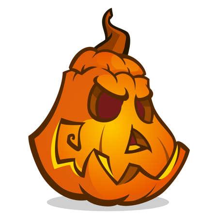 Halloween cartoon pumpkin. Vector isolated