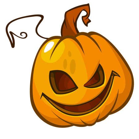 calabazas de halloween: la cabeza de la calabaza aislado en blanco. Jack miedo. ilustración vectorial