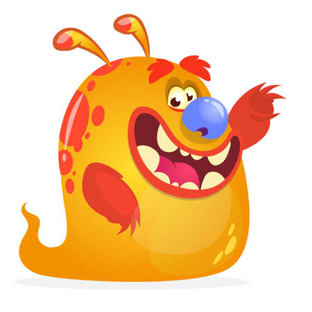 Orange monster cartoon Illustration