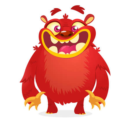 Cartoon red monster
