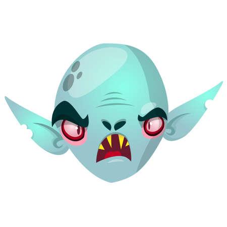 Vampire character icon. Halloween dracula head icon. Vector cartoon illustration Иллюстрация