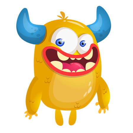 Cartoon yellow monster. Vector illustration Illustration
