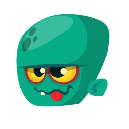 walking corpse: Zombie Head Cartoon Character