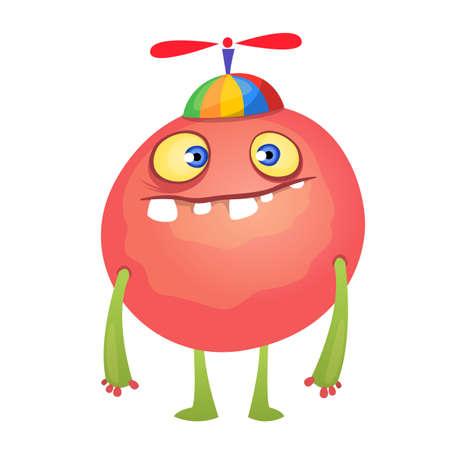 creepy alien: Cute cartoon monster