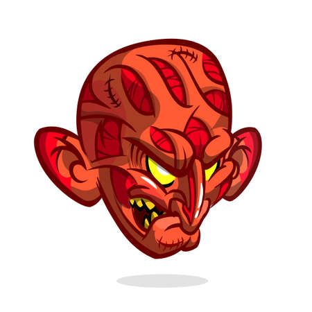 Zombie Head Cartoon Character