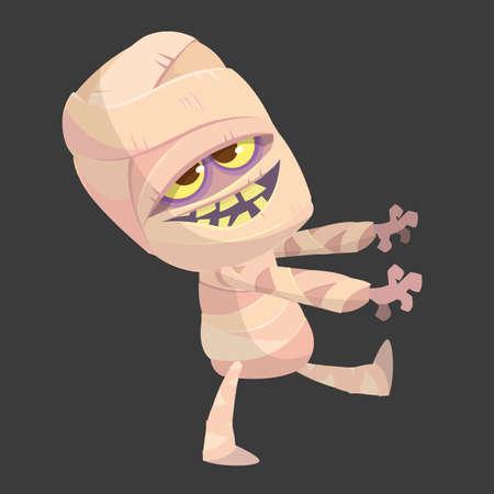 Cartoon funny zombie character.