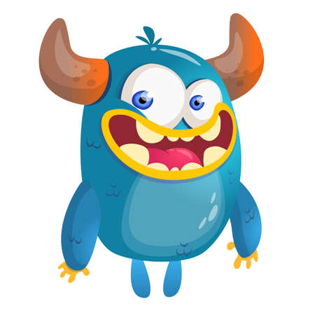 Cartoon blue monster