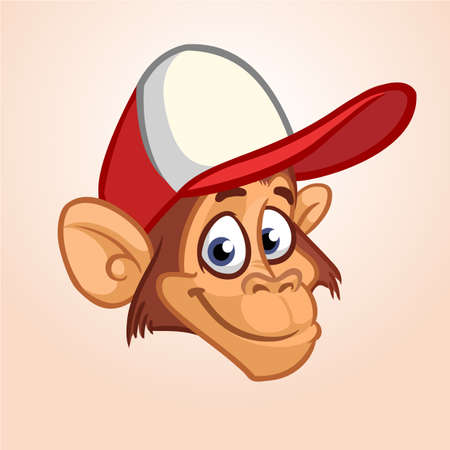 Cartoon Monkey Head icon.