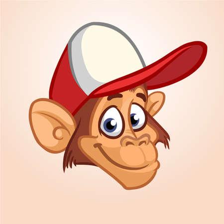 Icono de cabeza de mono de dibujos animados. Foto de archivo - 84071156
