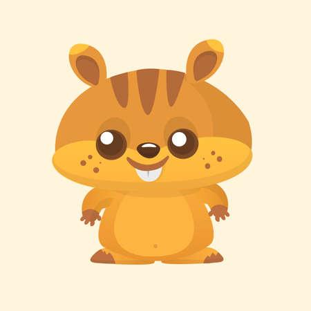 Squirrel chipmunk cartoon. Wildlife animal vector illustration.
