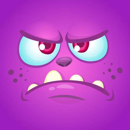Wütendes Monstergesicht der Karikatur. Halloween-Maske oder Avatar. Vektor-illustration Standard-Bild - 85470869