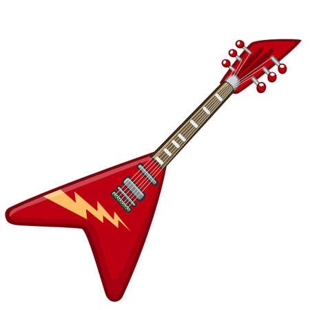 Electric guitar cartoon icon.