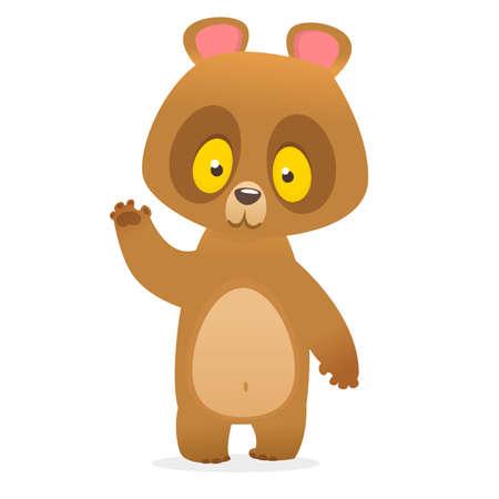 Cute bear toy Flat icon Vector illustration. Vector illustration of a bear isolated on white background