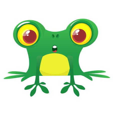 Funny Frog Cartoon Character. Vector illustration
