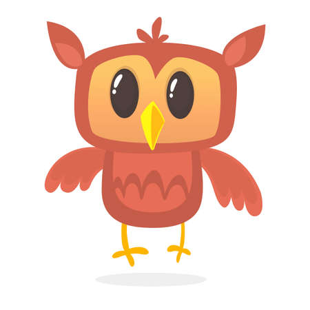 A cute owl cartoon character mascot. Vector illustration Illustration