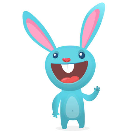 Rabbit or Easter Bunny cartoon character. Vector illustration Illusztráció