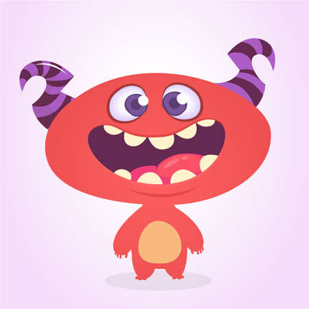 Funny cartoon alien. Vector illustration. Design for print, sticker or cgildren book Stock Vector - 104063849