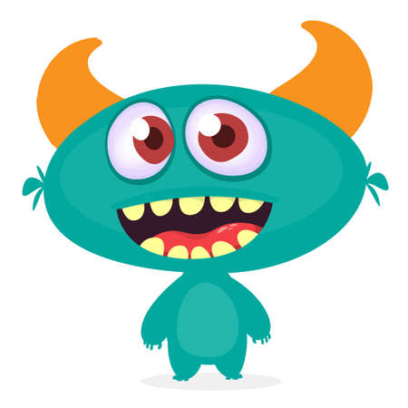 Funny cartoon alien. Vector illustration