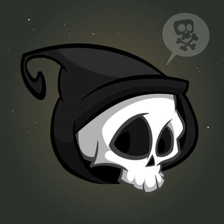 Grim reaper logo mascot vector Illustration