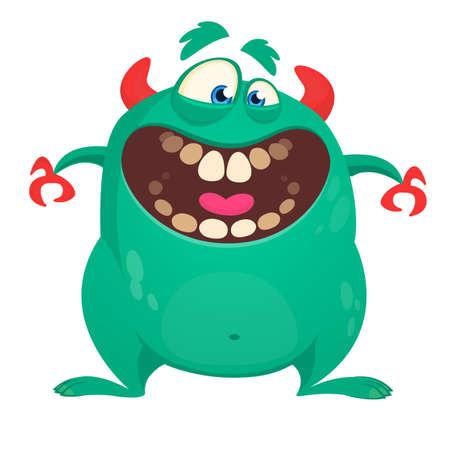 Cool cartoon vector monster character