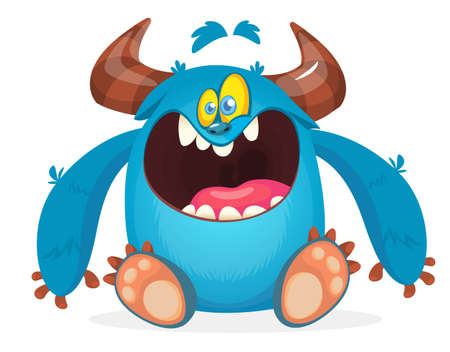 Cartoon yeti monster. Vector illustration of bigfoot sasquatch Standard-Bild - 119839893