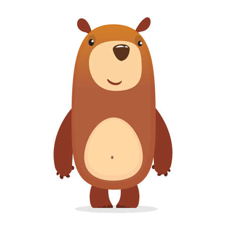 Cute baby bear cartoon. Vector illustration