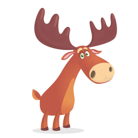 Illustration of the mighty and beautiful forest moose