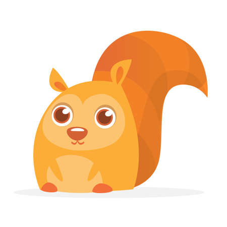 Red Squirrel Vector Illustration. Cartoon squirrel character