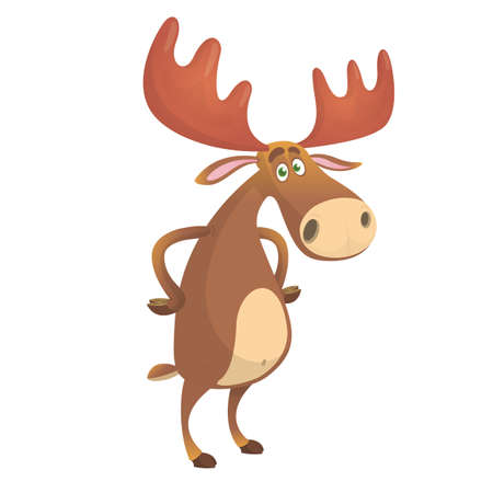 Cool carton moose. Vector illustration isolated