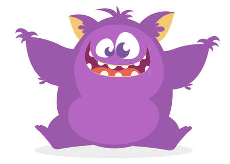 Cute cartoon monster. Vector illustration Illustration