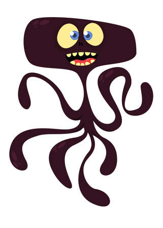 Cute cartoon monster alien or octopus. Vector illustration Illustration