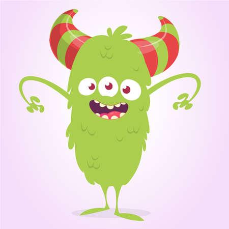 Cute cartoon monster. Vector illustration