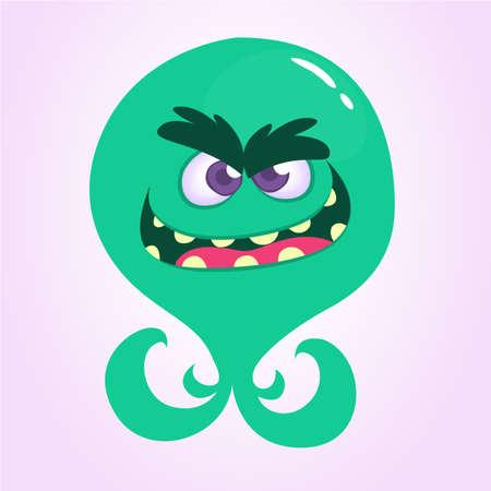 Cute cartoon alien monster or octopus. Vector illustration